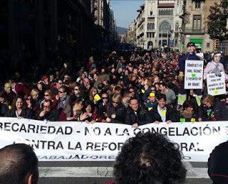 Solidaridad con la lucha de los trabajadores de la TMB de Barcelona y de AUZSA de Zaragoza en lucha por sus derechos laborales y sus condiciones de vida.