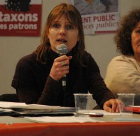 Lancement de la campagne régionale en ile de France bourse du travail de Saint Denis 07 02 2010.