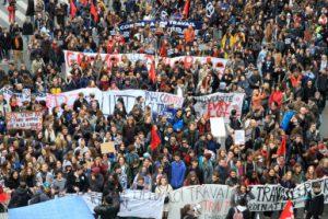 Paris, le 9 avril 2016. Manifestation contre la loi travail.