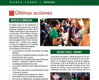 Boletín informativo de la Marea Verde de Granada