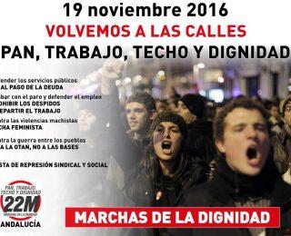Manifiesto de las Marchas de la Dignidad Andalucía – Razones para movilizarse el 19 de noviembre