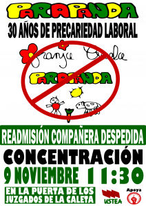Cartel despido CRIS 9-N
