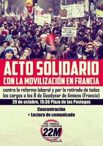 Cartel solidaridad con GooDYear Francia WEB