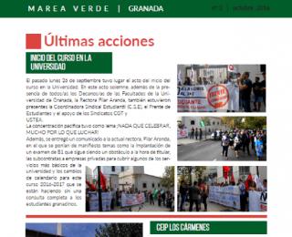 Segundo Boletín Marea Verde Granada