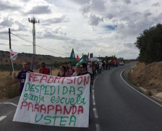 22 de OCTUBRE: MANIFESTACIÓN DE ALOMARTES A ÍLLORA CONTRA EL  DESPIDO DE UNA TRABAJADORA EN LA GRANJA ESCUELA PARAPANDA.