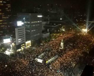 Una movilización sin precedentes en Corea del Sur desde los 80