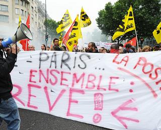 Francia: Huelga general en correos el 8 de diciembre