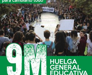 9M – Su pacto educativo no cambiará nada, las huelgas para cambiarlo todo
