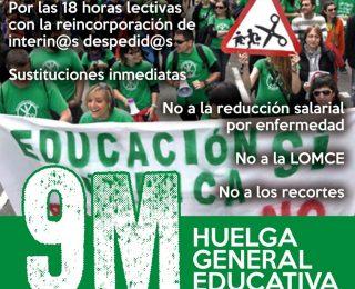 A las y los trabajadores de la enseñanza. Comunicado ante la Huelga educativa del 9M