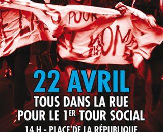 Por una 1ª vuelta social en Francia el 22 de abril