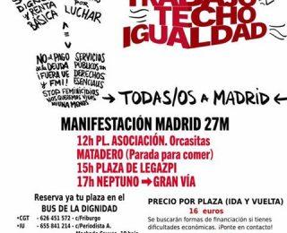 Llamamiento de sindicalistas del estado español en apoyo del 27M
