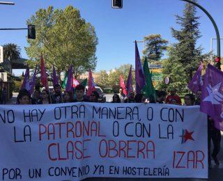 Las y los trabajadores de hostelería de Granada se movilizaron por su convenio