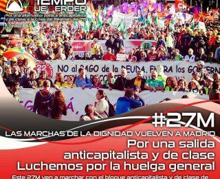 Este 27M, marchemos por una alternativa anticapitalista y de clase