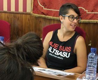 Solidaridad con nuestra compañera Antea Izquierdo en el Ayuntamiento de Burgos por defender la causa de Altsasua. Absolución sin cargos para l@s 8
