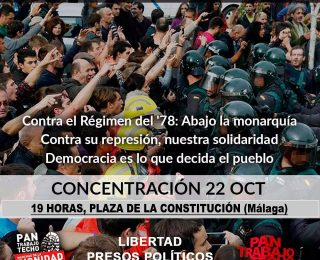 Las  Marchas de la Dignidad- Andalucía contra la escalada represiva y por el derecho a decidir de los pueblos