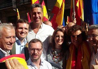 La Catalunya silenciosa vino de todo el estado más rojigualda que nunca