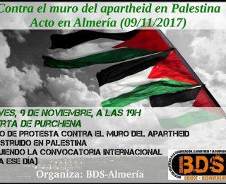 Izquierda Anticapitalista Revolucionaria – IZAR Almería ante el día internacional contra el muro del apartheid