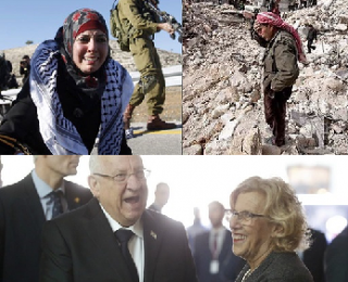 No en nuestro nombre. Manuela Carmena entrega las llaves de Madrid al presidente del estado sionista de Israel