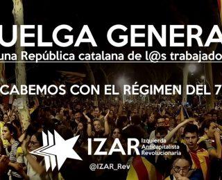 Frente a la represión del pueblo catalán y los presupuestos de la miseria: rompamos con el Régimen del 78 y los capitalistas