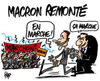A los 50 años del mayo del 68, un buen adoquín a la cara de Macron para el 2018
