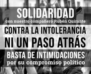 Solidaridad con nuestro compañero Rubén Quirante. El 11 de marzo a las 12h en la Plaza Ochavada, tod@s a Archidona