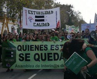 La huelga del profesorado interino andaluz, una lucha que va en serio