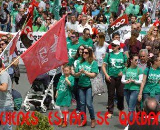 Miles de interin@s cierran el curso con movilización. Balance de la huelga indefinida andaluza