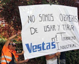 La empresa Vestas echa el cierre con un ERE de 362 trabajador@s que afecta a todo León