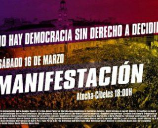 IZAR se adhiere al 16M en Madrid: No hay democracia sin derecho a decidir
