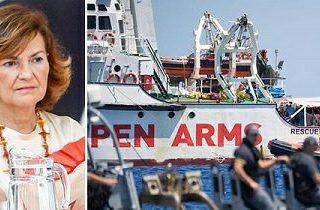 La delgada línea entre Carmen Calvo y Salvini en política migratoria