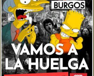 Apoyo a la huelga de los y las trabajadoras de Telepizza en Burgos el 20 de septiembre