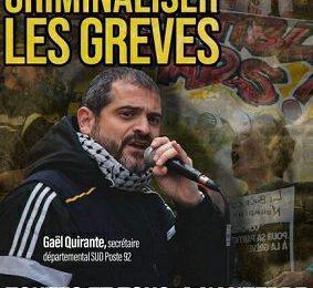 Comunicado internacional: ¡Absolución para Gaël Quirante, cartero y sindicalista!