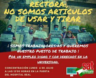 Solidaridad con l@s trabajador@s del CAU de la Universidad de Granada en lucha