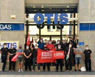 Solidaridad con l@s trabajador@s de OTIS en huelga contra los despidos