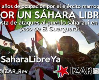 Al lado del pueblo saharaui y su lucha por la autodeterminación, contra la ocupación marroquí y el olvido de la ONU. El gobierno PSOE-UP no puede callar y ponerse de lado