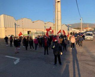 Solidaridad con l@s trabajador@s del manipulado hortofrutícola de Almería en huelga. Contra las coacciones de la patronal, ¡ni un paso atrás!