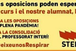 Huelga docente en País Valencià: no a las oposiciones en pandemia, pero sí a todo lo demás