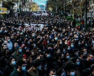 Tod@s a la calle contra el proyecto de ley Kerameos-Crysokoidis que militariza la universidad pública griega