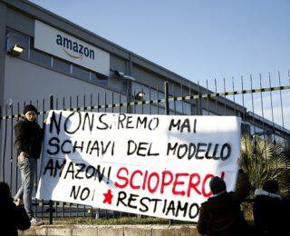 Trabajador@s plantaron cara a Amazon en la primera huelga en Italia